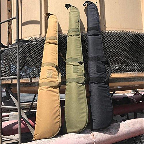 "LIVIQILY Airsoft Gun Case 5 LIVIQILY Hunting Nylon Shotgun Case 52"" Rifle Bag with Adjustable Shoulder Strap"