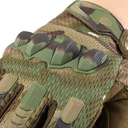 YOSUNPING Airsoft Glove 6 YOSUNPING Tactical Full Finger Gloves Touchscreen for Motorcycle Hiking Cycling Climbing