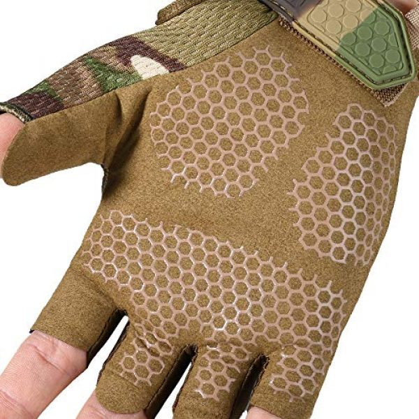 YOSUNPING Airsoft Glove 5 YOSUNPING Tactical Rubber Knuckle Fingerless Gloves Protection for Airsoft Paintball Riding Motorcycle Work