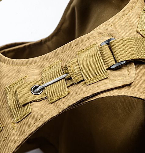 Invenko Airsoft Tactical Vest 5 Invenko Tactical Molle Airsoft Vest Paintball Combat Soft Vest Tan