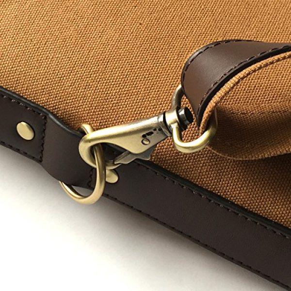 "TOURBON Rifle Case 7 TOURBON Vintage Hunting Gun Carrying Bag Slip Shotgun Case 50"" - Canvas and Leather"