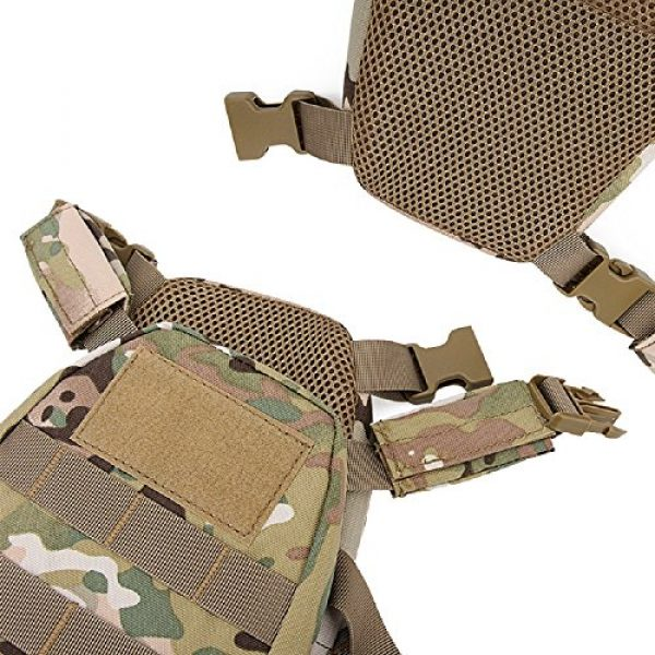 YASHALY Airsoft Tactical Vest 6 YASHALY Chest Rig for Kids, Mini Tactical Vest with Patrol Loading Bearing Belt Assault Molle Combat Children WST Military Protective Gear for WG Game Party