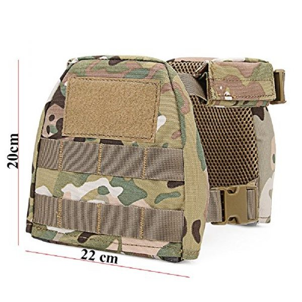 YASHALY Airsoft Tactical Vest 5 YASHALY Chest Rig for Kids, Mini Tactical Vest with Patrol Loading Bearing Belt Assault Molle Combat Children WST Military Protective Gear for WG Game Party