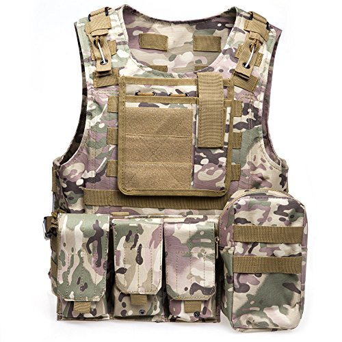 ATAIRSOFT Airsoft Tactical Vest 1 ATAIRSOFT Molle Tactical Airsoft Paintball Vest