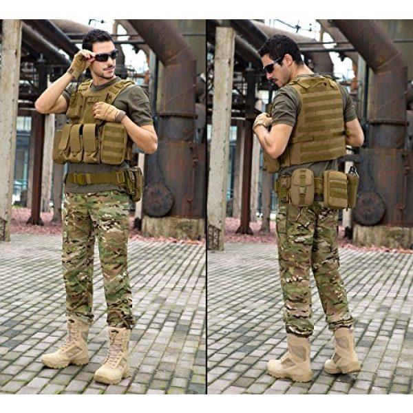 ArcEnCiel Airsoft Tactical Vest 3 ArcEnCiel Tactical Molle Vest, Coyote Brown