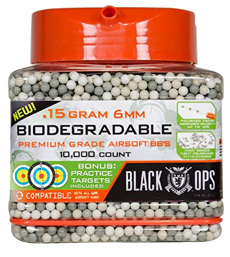 Black Ops Airsoft BB 1 Black Ops .15 g Biodegradable Airsoft BBs - 10