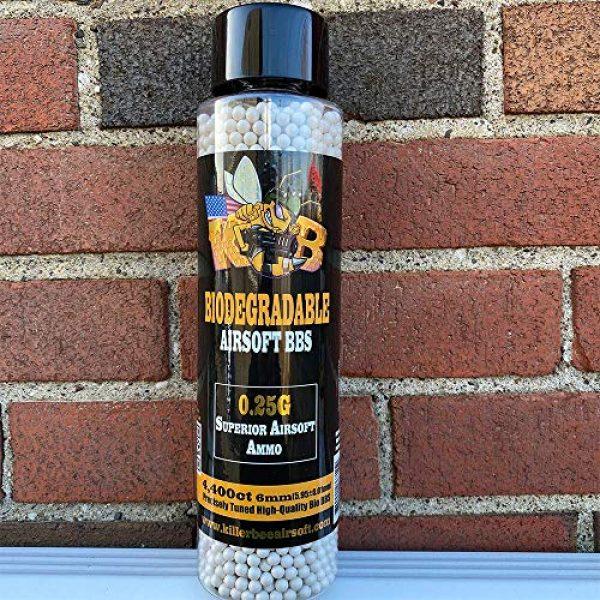 Killer Bee Airsoft Airsoft BB 3 Biodegradable Airsoft BBS 0.25g 6mm BBS 4,400 Ct Bottle. Perfect 6mm Bio BBS for Airsoft. Superior 6mm bio BBS for Airsoft Guns Airsoft Guns and Pistols.