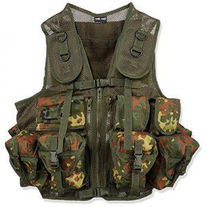 Mil-Tec Airsoft Tactical Vest 1 Mil-Tec 9 Pocket Tactical Vest (Flecktarn)