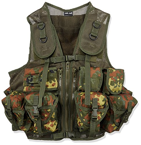 Mil-Tec  1 Mil-Tec 9 Pocket Tactical Vest (Flecktarn)