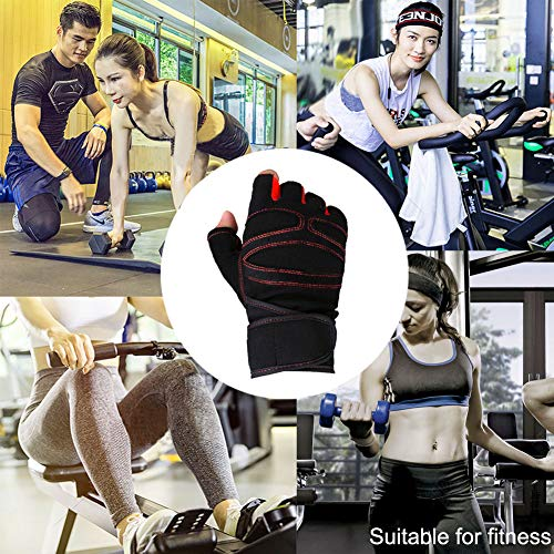 Breathable & Non-Slip Weight Lifting Gloves with Wrist Support for