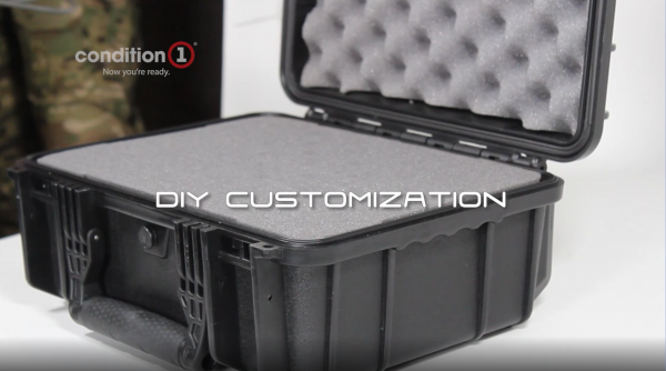 "Condition 1 Airsoft Gun Case 4 Condition 1 13"" Waterproof Protective Hard Case with Foam"