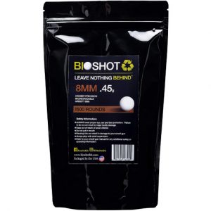 BioShot 0.45g Biodegradable Airsoft BBs Super Slick Sniper Weight Bag