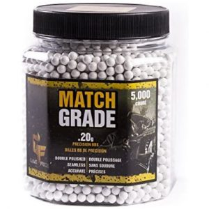 Crosman Match Grade 6mm Airsoft BBs 5,000 Count Bottle