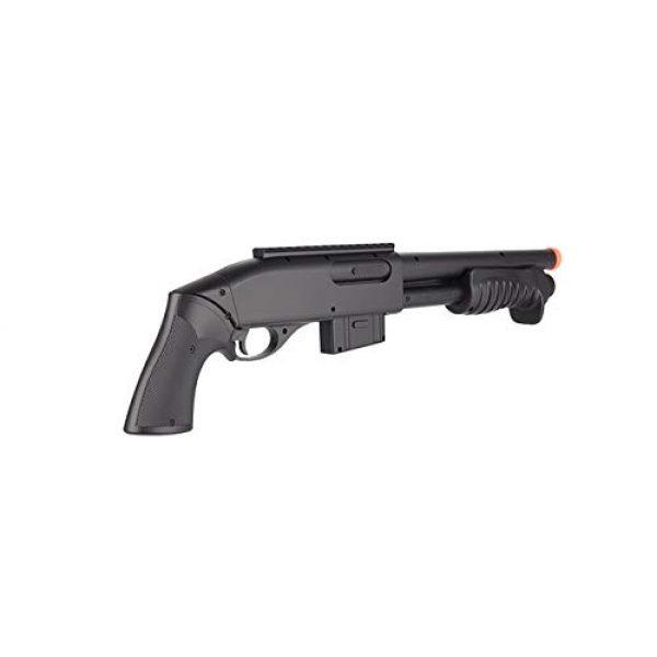 Double Eagle  2 Double Eagle M401 BREACHER Pump Action Spring Powered Airsoft Shotgun Air Soft 6mm BBS 350 FPS