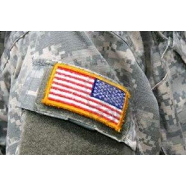 Tekma Sport Airsoft Patch 6 Tekma Sport American Flag Hook and Loop Tactical Patch Combination Pack, Standard and Reverse