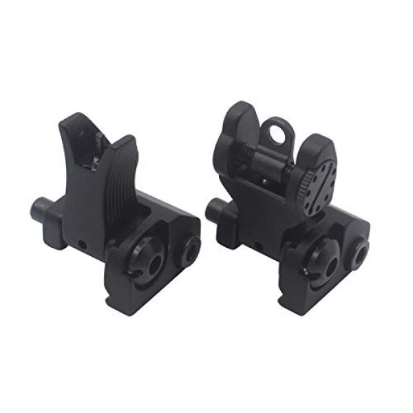 AWOTAC Airsoft Gun Sight 3 AWOTAC Tactical Rapid Transition Front and Rear Flip Up Backup HK Iron Sights Fit Picatinny Weaver Rails