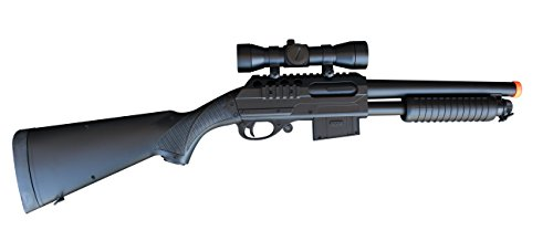 Double Eagle  2 Double Eagle M47A1 M47 UTGA Full Size Quality Heavyweight Tactical Airsoft Spring Powered Pump Action Shotgun Rifle Powerful 300 FPS