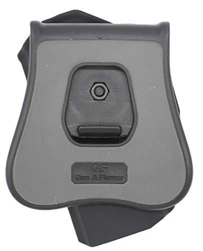 Gun&Flower  4 Gun&Flower OWB Polymer Holster Outside Waistband Concealed Carry Adjustable Ride/Cant/Retention