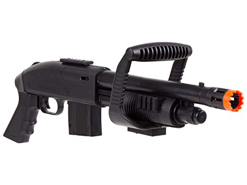 Mossberg  3 Mossberg 590 Airsoft Spring Shotgun Pump-Action Chainsaw with Picatinny Rail for Accessories