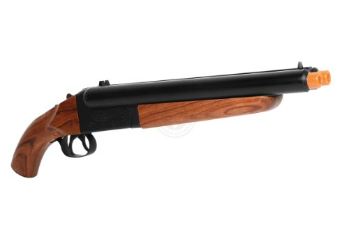 HS  2 300 fps hudson metal double barrel mad max sawed off gas shotgun(Airsoft Gun)