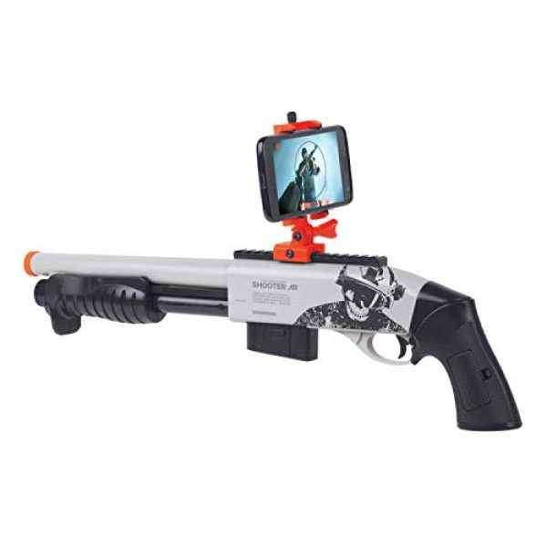 Game Face  1 GameFace GFSGAR Ghost Radical Spring-Powered Airsoft Shotgun With Built-In Bluetooth Augmented Reality System And Phone Mount