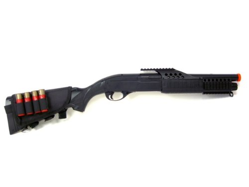 BBTac  1 BBTac BT-BT180D1 Cock and Shoot 250 FPS Airsoft Shotgun with 4 Shells