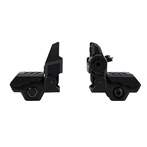GVN Airsoft Gun Sight 4 GVN Flip up Battle Iron Sights Front and Rear Sights For Picatinny Rail