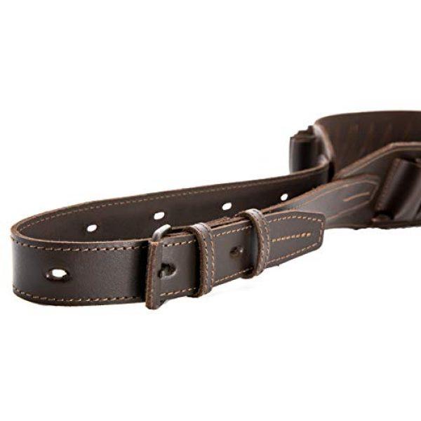 CKG  5 Genuine Leather Shotgun Cartridge Belt 12/16 Gauge - Tactical Shooting Gun Bullet Waist Belt - Ammo Holder Combat Hunting - 24 Shell Holder-Brown Color