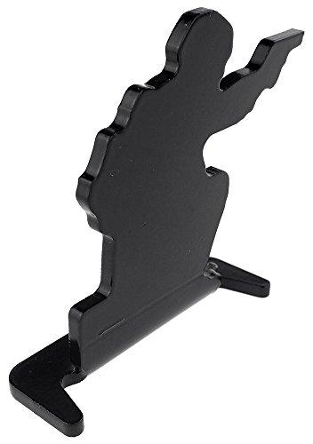 SportPro Airsoft Target 5 SportPro Full Steel Soldier Shooting Targets Type A 6 pcs for AEG GBB Airsoft Black