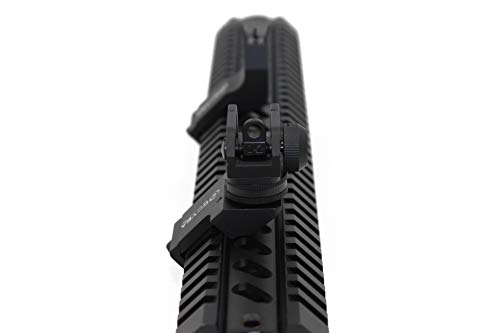 Goyea Tactical Airsoft Gun Sight 5 Goyea Tactical Flip Up Iron Sights for Rifle 45 Degree Offset Rapid Transition Backup Front and Rear Iron Sight BUIS Set