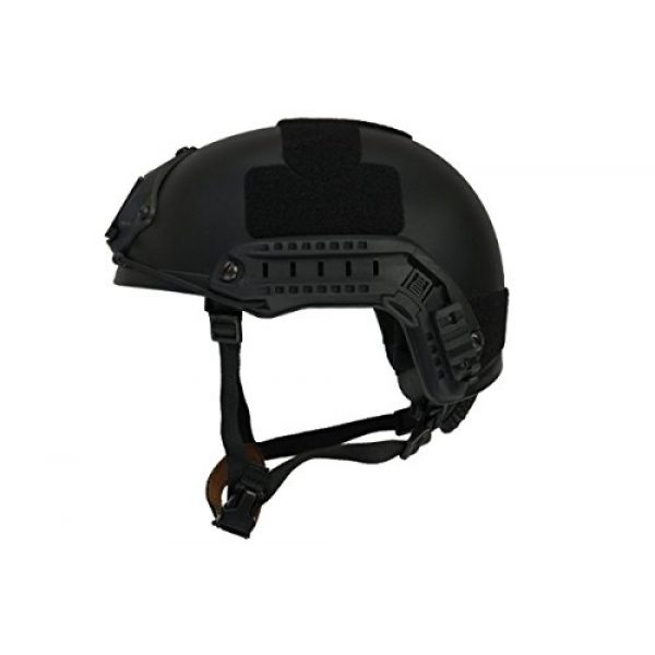 Lancer Tactical Airsoft Helmet 1 Lancer Tactical Airsoft Use MH Ballistic Type Tactical Gear Helmet - Black - L/XL