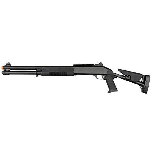 BBTac  1 BBTac Airsoft Shotgun BT-M56C Tri-Barrel Triple Shot Spring Loaded Pump Action