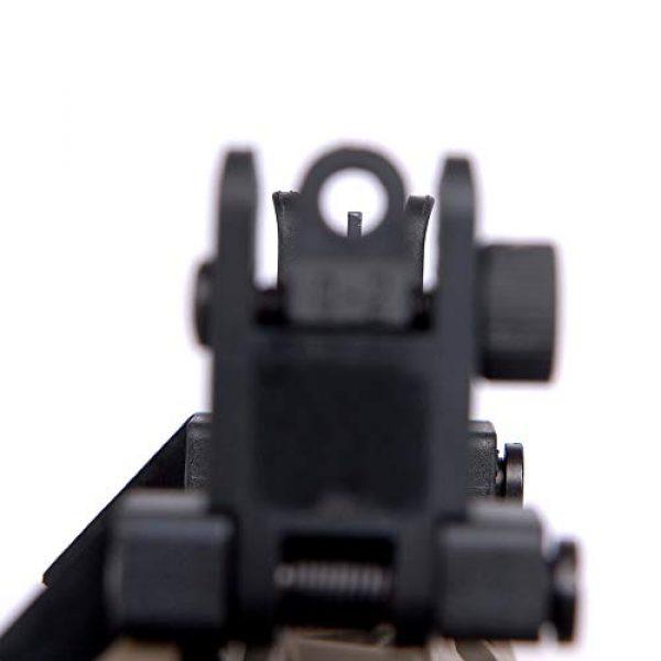 IORMAN Airsoft Gun Sight 6 IORMAN Ultralight Flip Up Sight 45 Degree Offset Rapid Transition Front and Backup Rear Sight