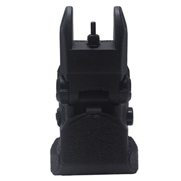 AWOTAC Airsoft Gun Sight 6 AWOTAC Polymer Black Flip-up Front and Rear Sight Fit Picatinny Weaver Rails
