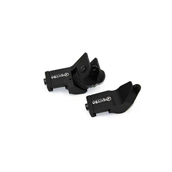 Goyea Tactical Airsoft Gun Sight 2 Goyea Tactical Flip Up Iron Sights for Rifle 45 Degree Offset Rapid Transition Backup Front and Rear Iron Sight BUIS Set