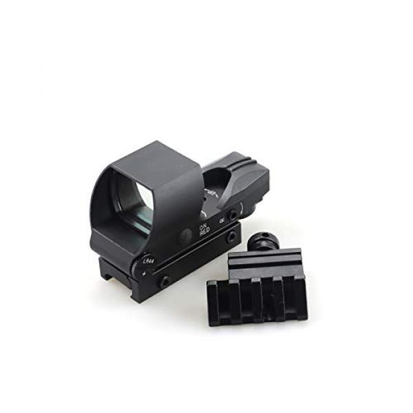 Goyea Tactical Airsoft Gun Sight 2 Red Green Holographic Rifle Dot Sight 4 Reticles Tactical Reflex Scope Sight