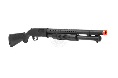 AGM  2 Airsoft M500 Tactical Full Stock Pump Action Spring Shotgun