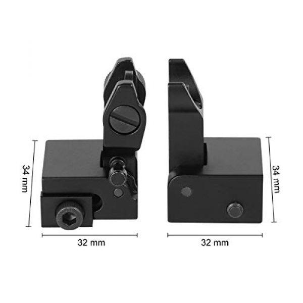 Gogoku Airsoft Gun Sight 4 Gogoku Flip Up Iron Sight Front Rear Sight Compatible for Picatinny Rail and Weaver Rail Foldable Sights