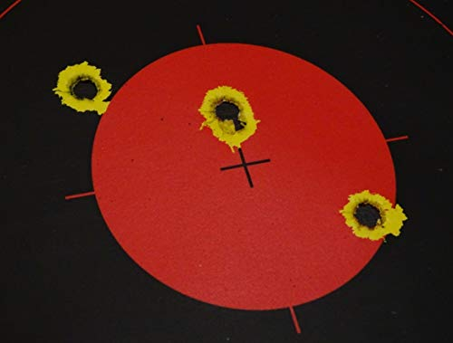 """CHLTargets.com Airsoft Target 3 Reactive Targets (Peel-and-Stick - Adhesive Target) 3"""" Bulls Eye 9-Up Target - Biggest Reactive/Splatter Effect Providing Visual Feedback & Easy Hit Identification 10"""" H x 11"""" W"""