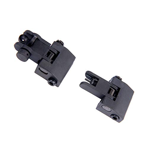 Fidragon Airsoft Gun Sight 7 Fidragon Ultralight Flip Up Backup Battle Sight Offset Rapid Transition Front and Backup Rear Sight for Picatinny Mount