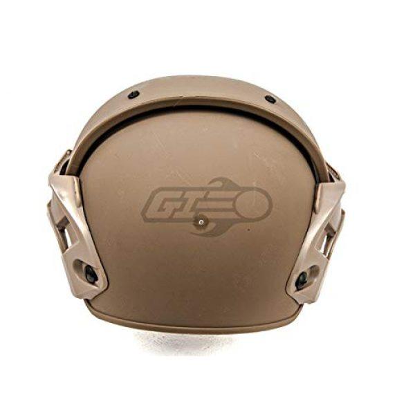Lancer Tactical Airsoft Helmet 5 Lancer Tactical CA-761 CP AF Air Force Safety Airsoft Helmet (Tan)