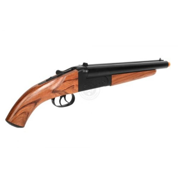 HS  5 300 fps hudson metal double barrel mad max sawed off gas shotgun(Airsoft Gun)