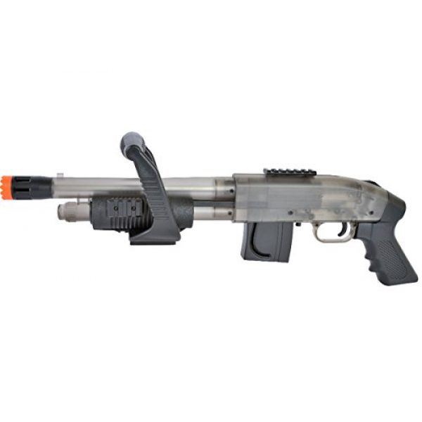 Mossberg  1 Mossberg Chainsaw Spring Powered Pump Airsoft Shotgun in Clear