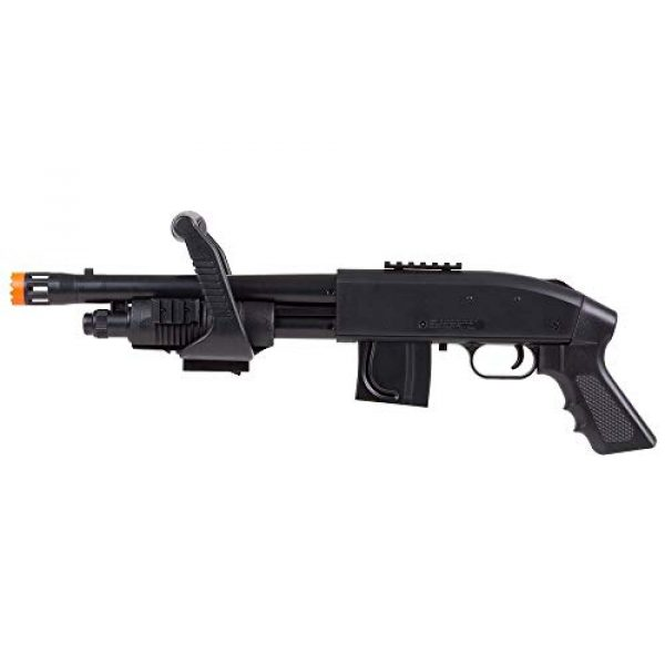 Mossberg  1 Mossberg 590 Airsoft Spring Shotgun Pump-Action Chainsaw with Picatinny Rail