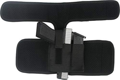ProudCarry  4 ProudCarry Ultimate Ankle Calf Holster with Calf Strap and Spare Magazine Pouch for Concealed Carry Black