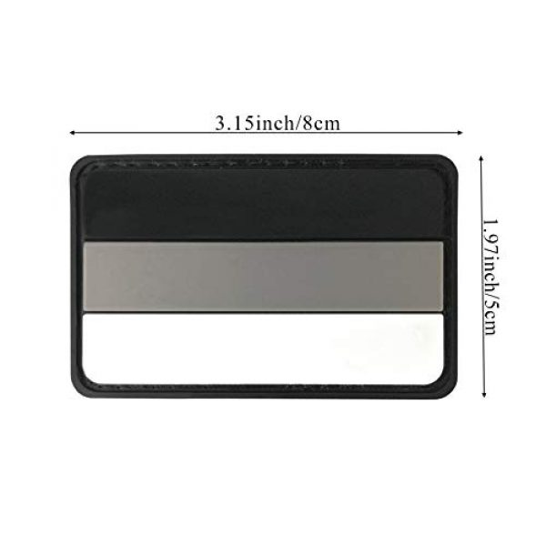 JBCD Airsoft Patch 2 3.15x1.97 inch Gray German Flag Patch PVC Rubber Patch 3D Pride Moral Patch Clothes Patch Backside Tactical Patches Patch for Military Uniform, Tactical Bag, Jacket, Team, Backpack, Hat