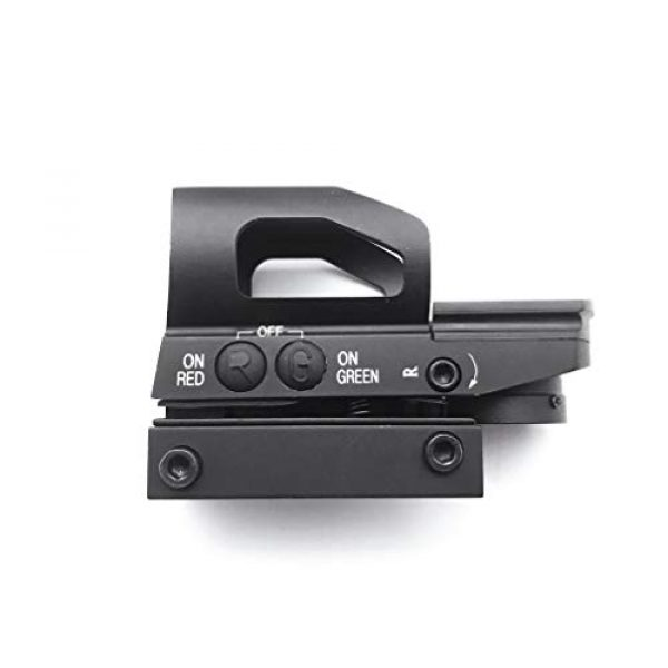 Red Dot Sight with Rail Mount Multiple Reticle System