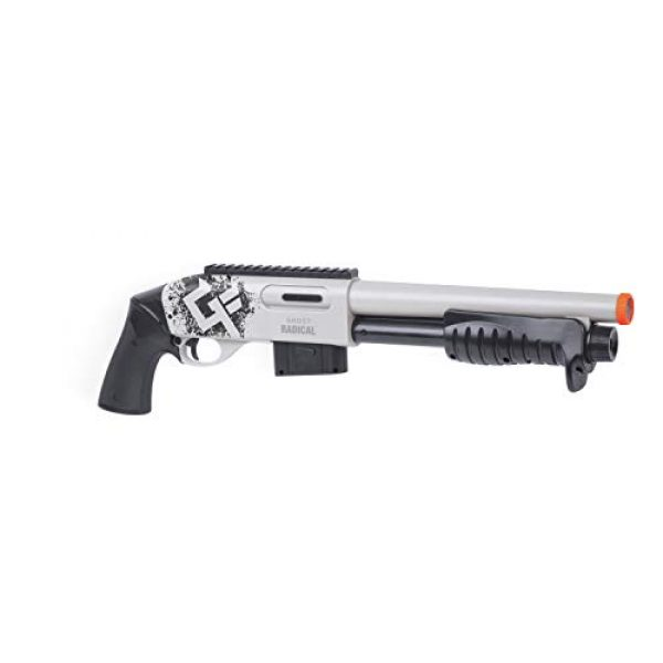 Game Face  2 GameFace GFSGAR Ghost Radical Spring-Powered Airsoft Shotgun With Built-In Bluetooth Augmented Reality System And Phone Mount