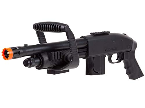 Mossberg  2 Mossberg 590 Airsoft Spring Shotgun Pump-Action Chainsaw with Picatinny Rail for Accessories