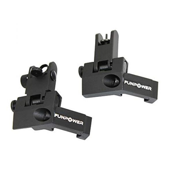 Rapid Transition Backup Front and Rear Spring Loaded Metal Sights
